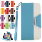 Luxury PU Leather Case Wallet Flip Cover Card Slot Stand For Samsung Galaxy S5