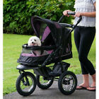 Pet Gear - NV NO ZIP DOG STROLLER -Eazy Locking Latch,  Weather Cover & Plush Pad