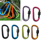 1pc Aluminum Lock Carabiner Clip Snap Hook D-Ring Screw Keychain Camping Outdoor