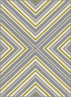 Gray Transitional Casual Striped Crosses Chevron Outdoor Rows Lines Area Rug