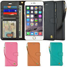 For Apple iPhone 6 6S 7 Plus Leather Flip Cover Credit Card Wristlet Wallet Case