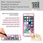 "Shockproof Rugged Hybrid Rubber Hard Cover Case For iPhone 6 4.7""/5.5"" Plus"