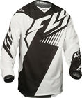 Fly Racing Kinetic Vector Mesh Jersey Men Black/White All Sizes