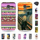 For Motorola Moto X XT1058 - New Thin Rigid Colorful Design Cover Case