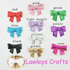 ✿ 2 x SEQUIN BOWS FLAT BACK EMBELLISHMENT FOR SEWING HAIR CLIP HAIRBAND CRAFT ✿