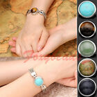 10X Wholesale Round Gemstone Charms Snap Bead for Buckle Bracelet Ring DIY Gift