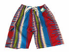 Adults Mens Multicoloured Print Swim / Swimming Shorts with elasticated waist