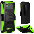 Holster Clip + Kickstand Hybrid Case Phone Cover for ZTE Lever Z936L LTE Z936C