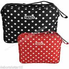 Cabin Bag Hand Luggage Black Red Polka Dot  Bag Gym Travel Holdall Bag 38cm