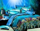 3D Dolphin Animal Queen Bed Set Sheet Duvet Cover Pillowcases Not Comforter 4pcs