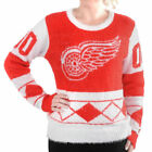 Women's Klew Red Detroit Red Wings Eyelash Ugly Sweater