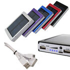 30000mAh Solar Panel Battery Charger Dual USB Power Bank for Iphone Samsung New