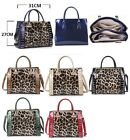 Ladies Women's Shinny Leopard Print Tote Bags Fashion Quality Gorgeous Handbags