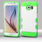 Samsung Galaxy S6 Tuff Trooper HYBRID TPU Case Skin Phone Cover + Screen Guard