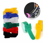 100pcs Re-Useable Nylon Velcro Hook Loop Cable Cord Ties Tidy Straps Organizer