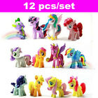 Lot 12Pcs My Little Pony Figures Rarity Celestia Princess Luna Xmas Doll Toppers