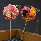 New Arrival Lapel Flower Handmade Boutonniere Stick Brooch Pin Men's Accessories