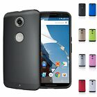 Two Layers Hard Armor Matte Protective Back Skin Case Cover For Google Nexus 6