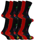 Mens Supersoft Comfy Bamboo Rich Socks In Plain And Squares Design 12 Pair Pack