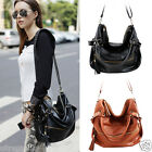 Women's Hobo PU Leather Handbag Cross Body Shoulder Hand Bag Large Capacity