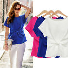 2016 Casual lady short Sleeve cotton Tops Shirt Blouse plus Size 10-22 NWT