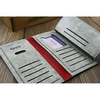 Leisure Long Casual Clutch Cente Bifold Purse Faux Leather Wallet Pockets Card