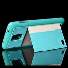 Card Holder Wallet Stand Leather Fitted Back Case Skin For Samsung Galaxy Note 4