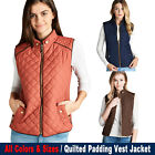 Women's Quilted Padding Vest Jacket Lightweight Quilted Top Outwear  for sale  Shipping to Ireland
