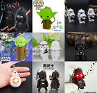 Star Wars Darth Vader Yoda LED Light Flashlight Sound Keyring Kids Toy Xmas Gift