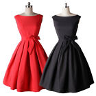 Vintage 1950's Rockabilly Swing Wedding Formal Evening Party Cocktail Dress V019