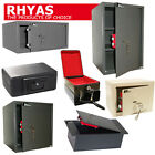 RHYAS Security & Fire Proof Safes Key Home Office Steel