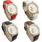 New Fashion Cute Butterfly Pattern Rhinestone Women Lady Round Wrist Watch PHNG
