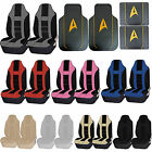 Star Trek Delta Black Front Rear Rubber Floor Mats Seat Covers Combo Universal
