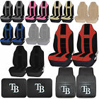 MLB Tampa Bay Rays Rubber Front Rear Floor Mat Seat Cover Universal Set on Ebay