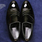 Handmade Mens Black Leather Dress Loafers Mens Shoes