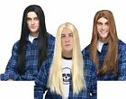 Adult Long Straight Unisex Brown Blonde Black Hippie Hair Wig Costume Accessory