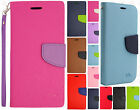 Samsung Galaxy S6 EDGE+ Plus Premium Leather 2 Tone Wallet Case Flip Cover