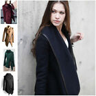 2015 Women Warm Wool Slim Long Trench Parka Peacoat Outwear Overcoat Coat Jacket