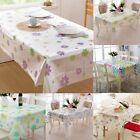 Wipe Clean PVC Vinyl Tablecloth Dining Kitchen Table Cover Protector 130x180cm