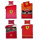 OFFICIAL FERRARI DESIGN DUVET COVER SETS BOYS BEDROOM BEDDING FORMULA ONE