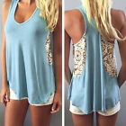 2015 Sexy Women Lace Vest Top Sleeveless Blouse Casual Tank Tops T-Shirt