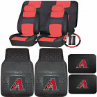 Synthetic Leather Seat Covers Set MLB Arizona DiamondBacks Rubber Mat Universal