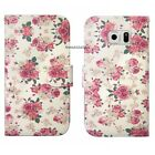 For Samsung Fresh Painted Magnetic Wallet PU Leather Slot Pouch Case Skin Cover