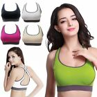 Women Racerback Sports Bra Yoga Fitness Padded Stretch Seamless Gym Tank Top Bra