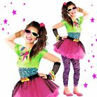 80s Party Totally Awesome Girls Teen Neon Pink Tutu Fancy Dress Outfit Costume