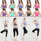 Seamless Racerback Sport Bra Yoga Fitness Padded Stretch Workout Zopper Top Tank