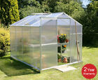 Silver Aluminium Greenhouse Polycarbonate Base Sliding Door UV Safe New 4 Sizes