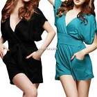 Sexy Women Clubwear V Neck Playsuit Bodycon Party Retro Jumpsuit&Romper Trousers