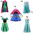 LUXURY Kids Girls Cosplay costume Princess party Gown Fancy Inspired dress Cape