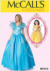 McCall's 7213 Sewing Pattern to MAKE Cinderella or Belle Costumes Adult or Child